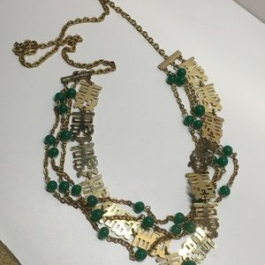 Vintage Jewelry - Asian endless necklace